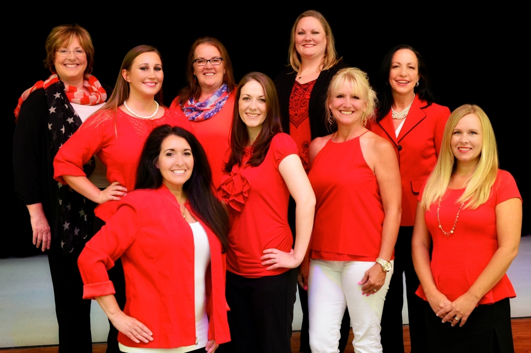 Left to Right First Row: Laurie Clifton, Lisa Pinz Middle Row: Kristin Christ, Tina Larson Top Row: Linda Stuckey, Paige Pangarakis, Deanne Riley, Kristi Baker, Susan Johnson